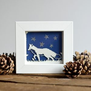 Miniature Fox with Stars Print