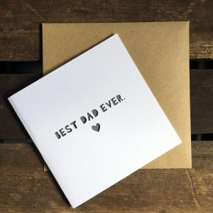 'Best Dad Ever' paper cut card