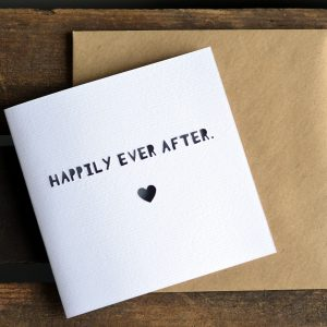 Paper Cut 'Happily Ever After' Wedding Card