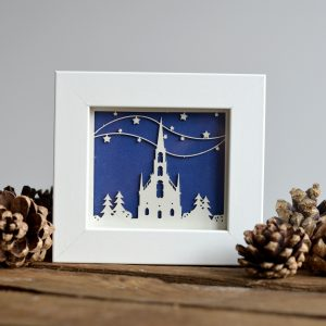 Paper Cut 'Holy Catherdral' Laser Paper Cut Print