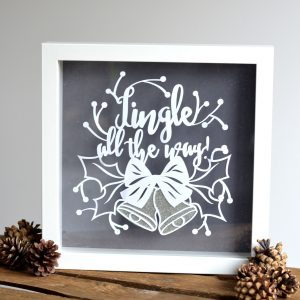 Paper Cut 'Jungle All The Way!' Framed Floating Print