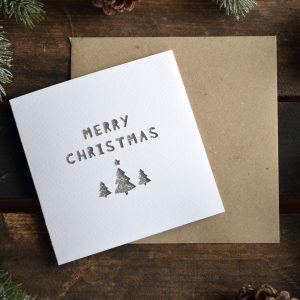 Paper Cut 'Merry Christmas' Christmas Card Winter