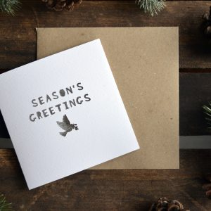Paper Cut 'Season's Greetings' Christmas Winter Card