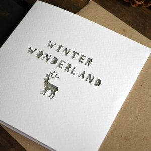 Paper Cut 'Winter Wonderland' Christmas Card