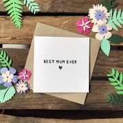 Mothers Day 'Best Mum Ever' Paper Cut card